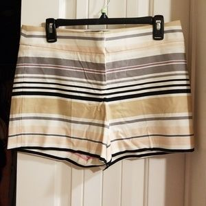 Classy striped cargo style shorts